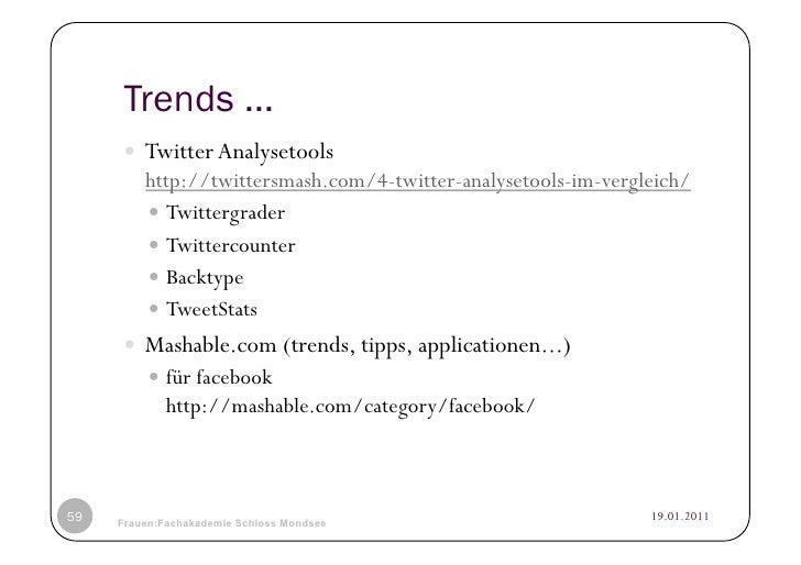 Trends ...      Twitter Analysetools         http://twittersmash.com/4-twitter-analysetools-im-vergleich/          Twi...