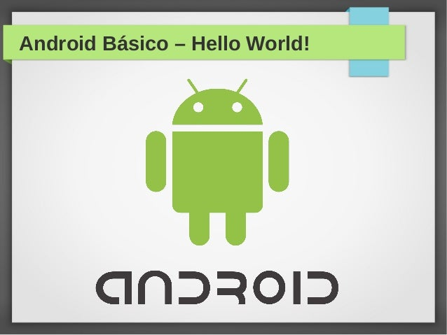 Android Básico – Hello World!