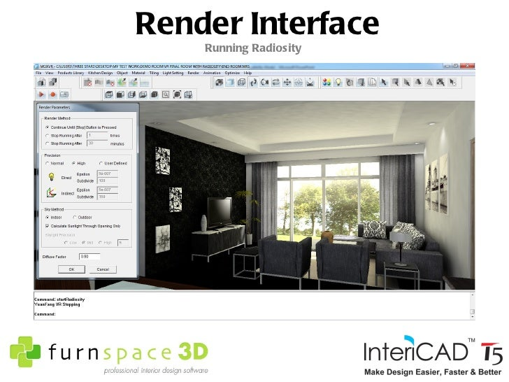 Render Interface Running Raytrace ...