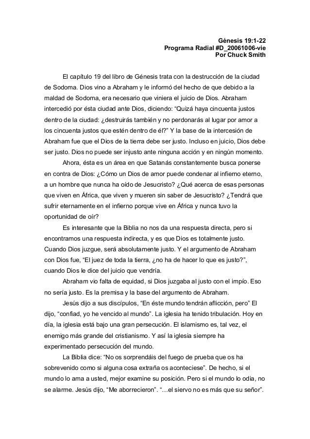Génesis 19:1-22 Programa Radial #D_20061006-vie Por Chuck Smith El capítulo 19 del libro de Génesis trata con la destrucci...