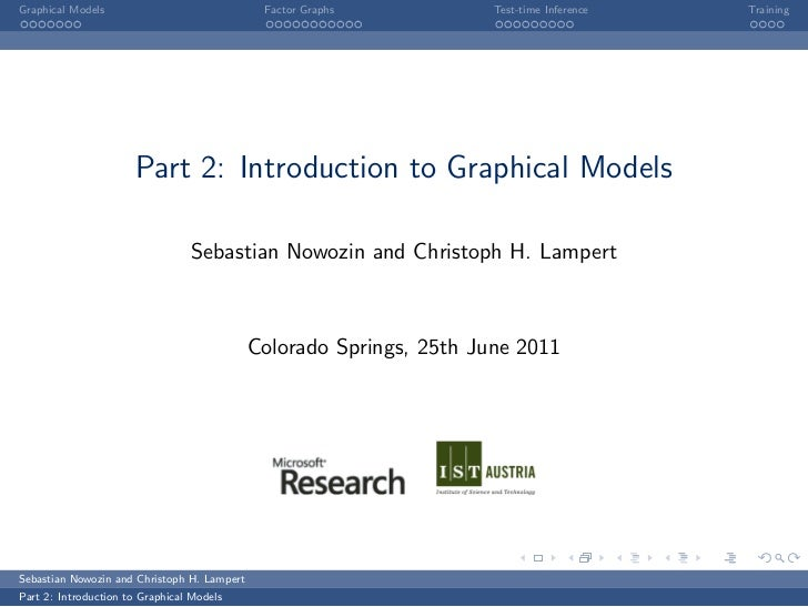 Graphical Models                              Factor Graphs           Test-time Inference   Training                      ...