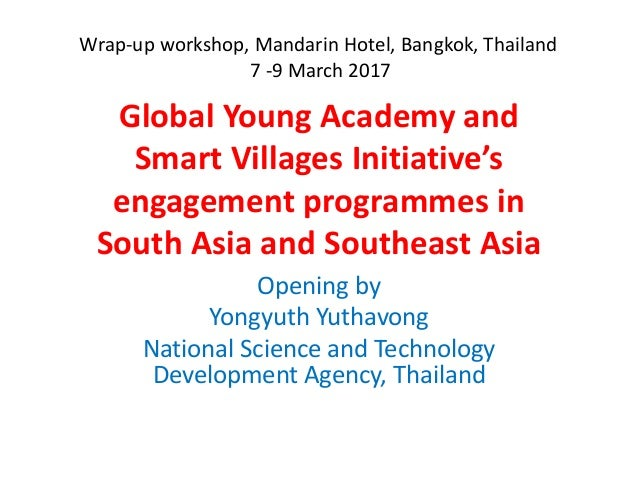 Global Young Academy and Smart Villages Initiative's engagement programmes in South Asia and Southeast Asia Opening by Yon...