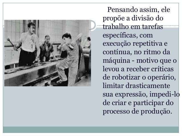 Declínio do fordismo   Na década de 1980, o fordismo entrou emdeclínio com o surgimento de um novosistema de produção mais...