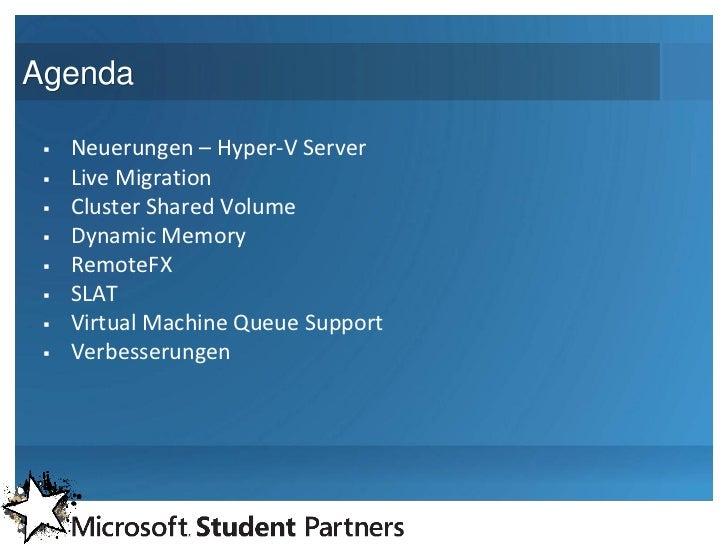 Windows Server 2008 R2 – Hyper-V Slide 3