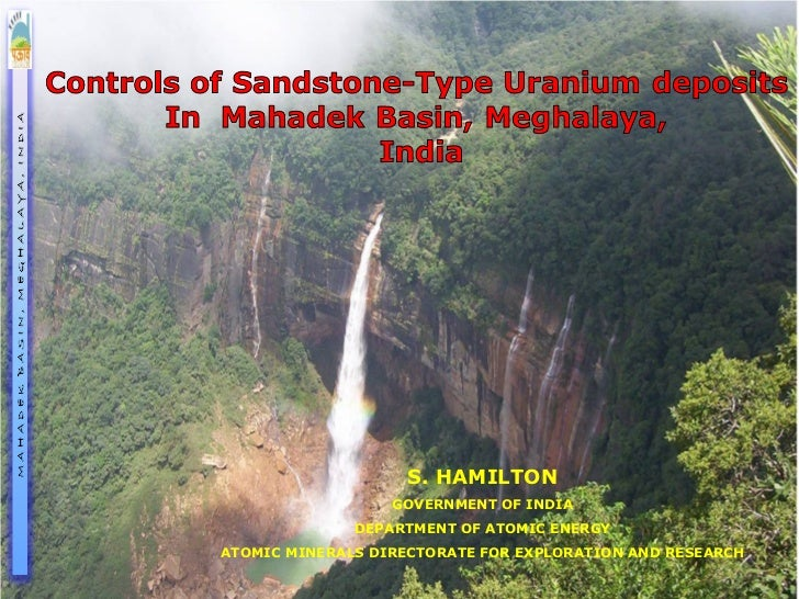 S. HAMILTON                  GOVERNMENT OF INDIA              DEPARTMENT OF ATOMIC ENERGYATOMIC MINERALS DIRECTORATE FOR E...