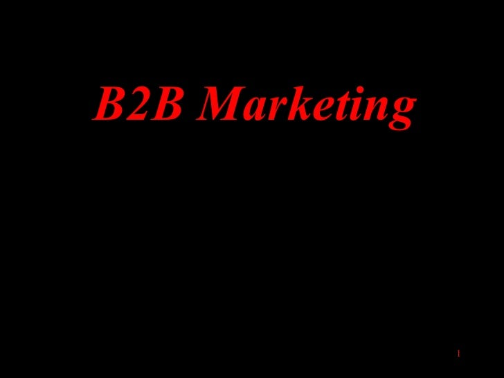 B2B Marketing                1
