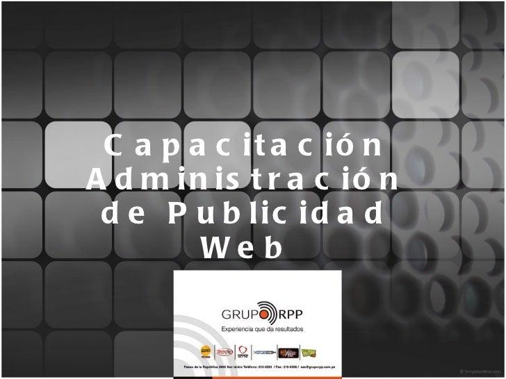 Capacitación Administración de Publicidad Web