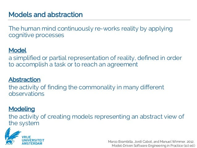 Modeling And Abstraction Software Development Process