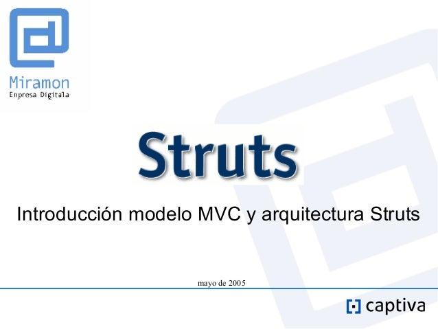Introducción modelo MVC y arquitectura Struts                    mayo de 2005