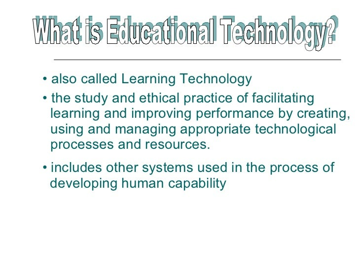 01-Introduction To Educational Technology 1 Slide 2