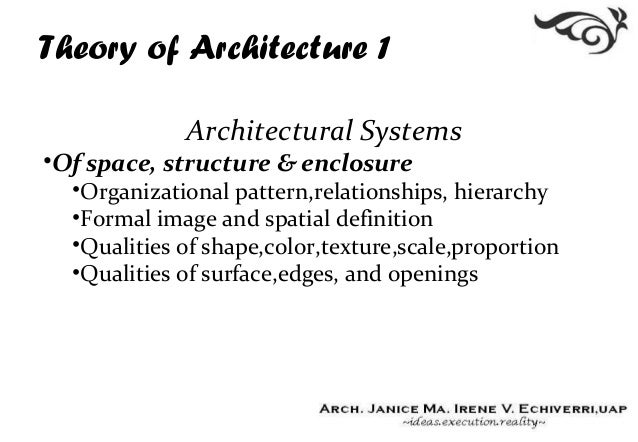 01 introduction definition for Importance of space in architecture