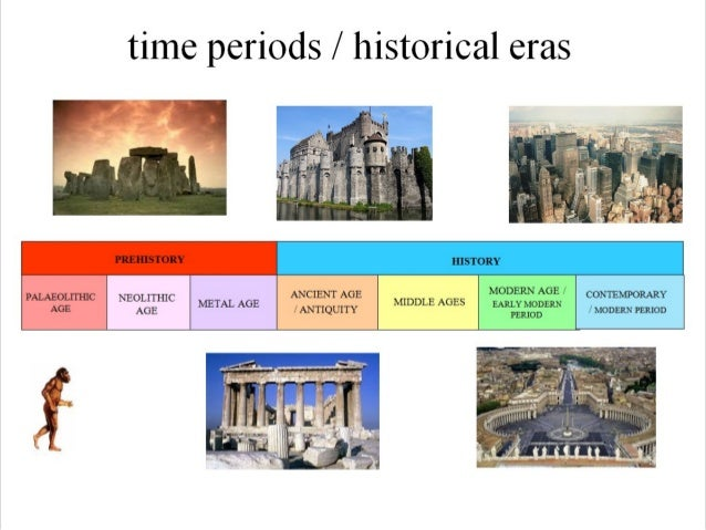 Major periods in world history