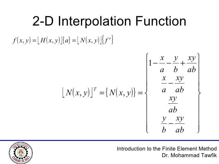 2-D Interpolation Function