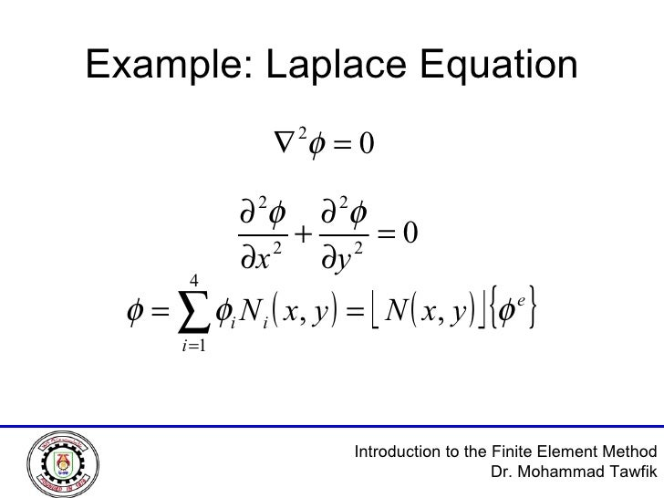 Example: Laplace Equation