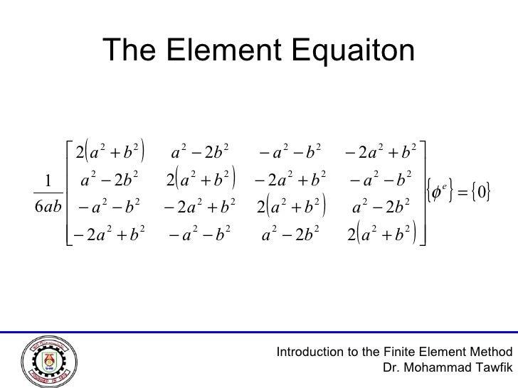 The Element Equaiton