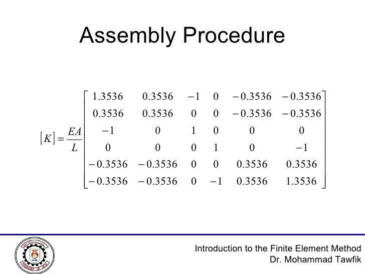 Assembly Procedure