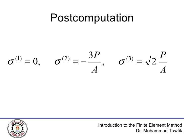 Postcomputation