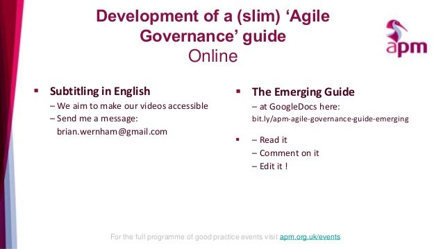 good practice guide for governance