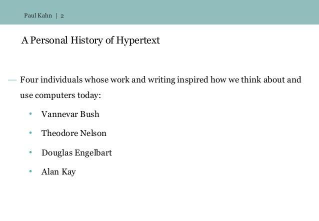 Personal(ized) History of Hypertext Slide 2