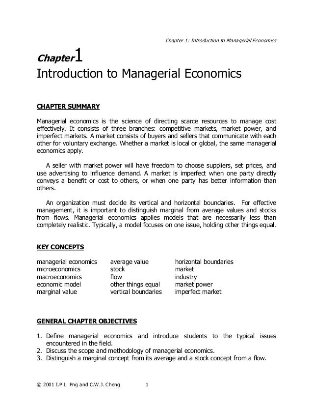 managerial economics ch 1 Supply analysis meaning of supply in simple words, supply is an amount of goods and services which a seller is willing to sale at a given time period at a given price, other things remaining same.