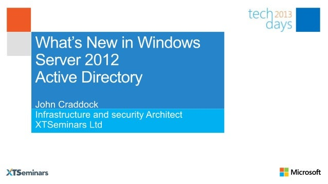 With Windows Server 2012 AD you canUse GUI management for:    The Recycle Bin    Fine Grain Password PoliciesPerform sim...