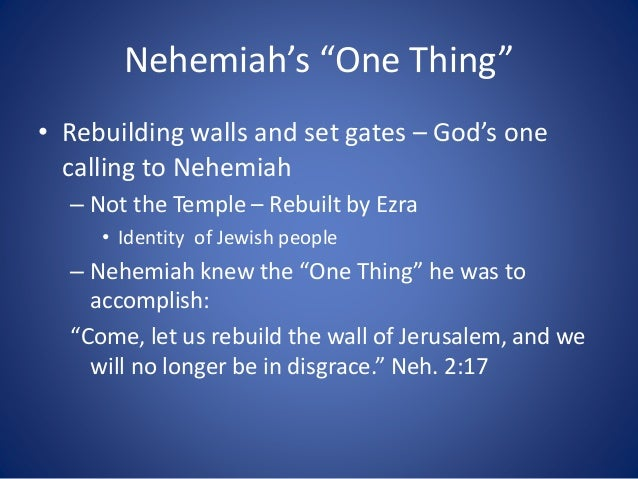 01 january 25 2015 nehemiah 6 staying focused on the one thing