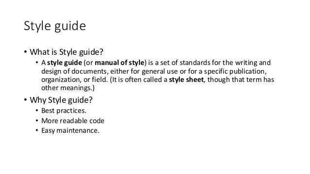 Highlights from the JavaScript Style Guide of Google - Web ...