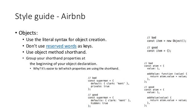 Airbnb JavaScript Style Guide - A mostly reasonable ...
