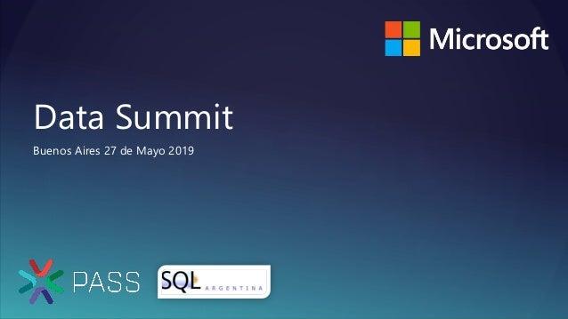 Data Summit Buenos Aires 27 de Mayo 2019