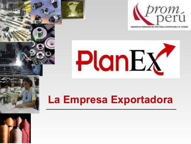 La Empresa Exportadora____________________________________________