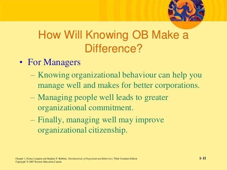 fundamentals of organizational behaviour langton pdf