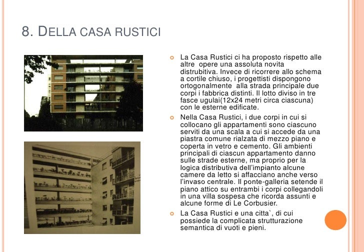 La riconsiderazione di casa rustici di giuseppe terragni for Piani di casa rustici