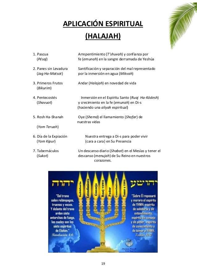 19 APLICACIÓN ESPIRITUAL (HALAJAH) 1. Pascua Arrepentimiento (T'shuvah) y confianza por (Pésaj) fe (emunah) en la sangre d...