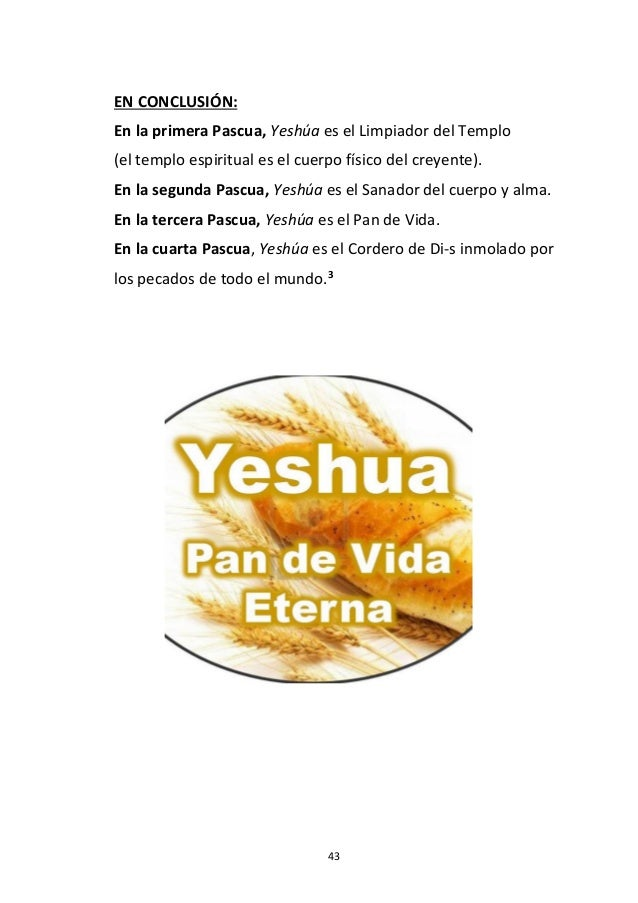 43 EN CONCLUSIÓN: En la primera Pascua, Yeshúa es el Limpiador del Templo (el templo espiritual es el cuerpo físico del cr...