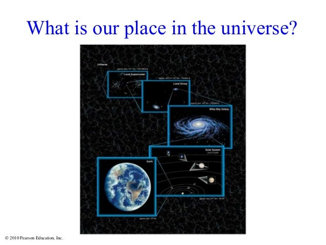 © 2010 Pearson Education, Inc. What is our place in the universe?
