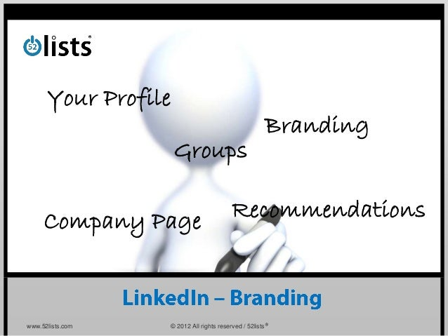 Your Profile                                                     Branding                     Groups     Company Page     ...