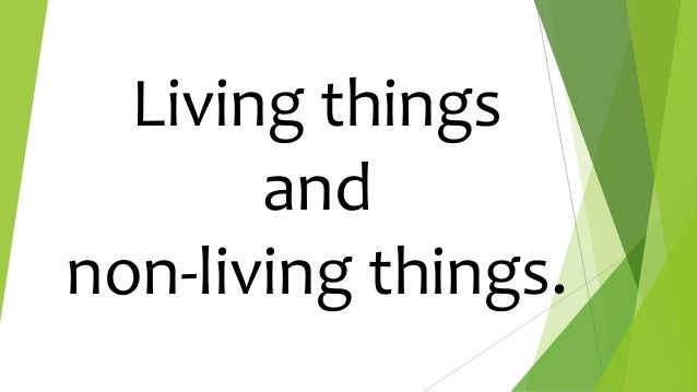 Living things and non-living things.