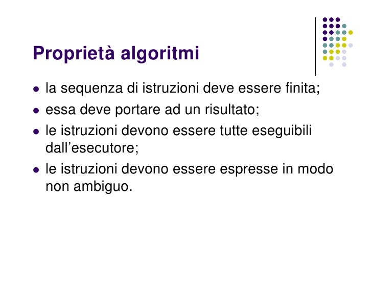 ECDL modulo 1 ud...Algoritmi