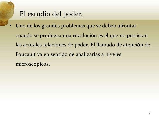 El estudio del poder.• Uno de los grandes problemas que se deben afrontarcuando se produzca una revolución es el que no pe...