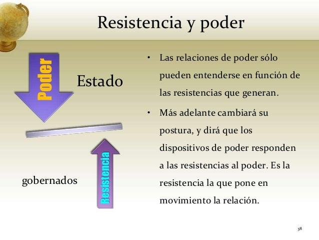Resistencia y poderEstadogobernados38• Las relaciones de poder sólopueden entenderse en función delas resistencias que gen...