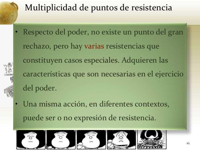 Multiplicidad de puntos de resistencia45• Respecto del poder, no existe un punto del granrechazo, pero hay varias resisten...
