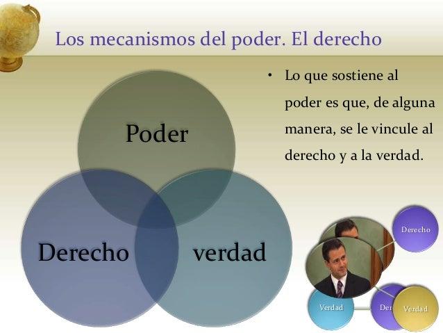 Los mecanismos del poder. El derechoPoderverdadDerecho60DerechoVerdad• Lo que sostiene alpoder es que, de algunamanera, se...