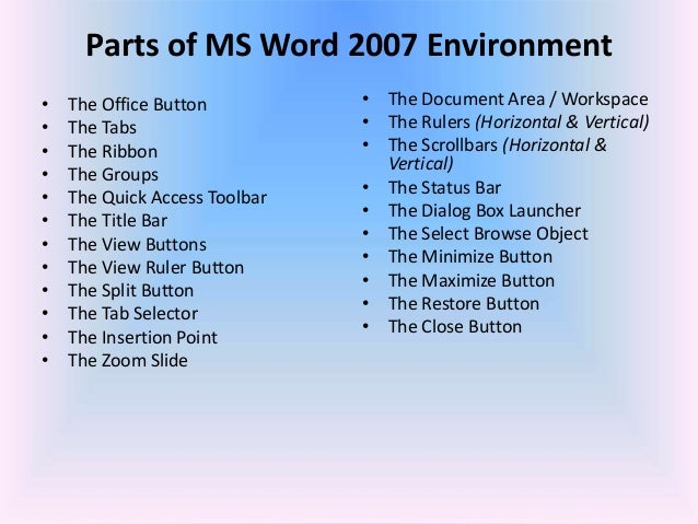 Ms word 2007 for thesis writing