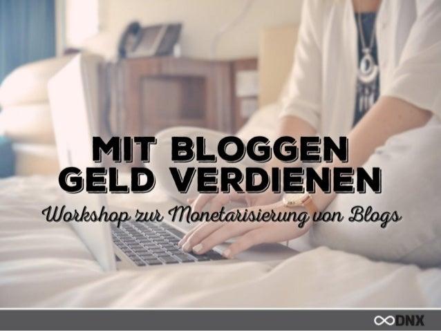 DNX Workshop ★ So machst Du Geld mit Deinem Blog: Workshop zur Monetarisierung von Blogs - Sabrina Iovino