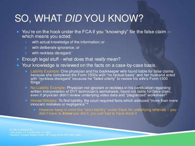 False Claims Act & Physicians - Basic Primer