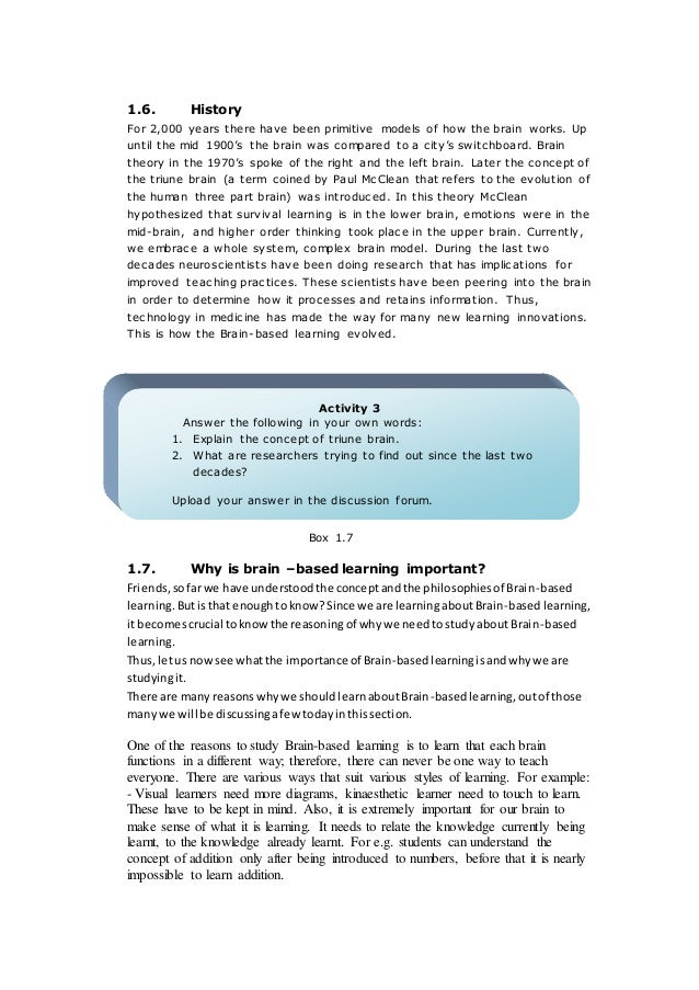brain based learning research paper Brain awareness week - homepage of brain awareness week brain based learning papers: the brain and learning based on the latest brain research.