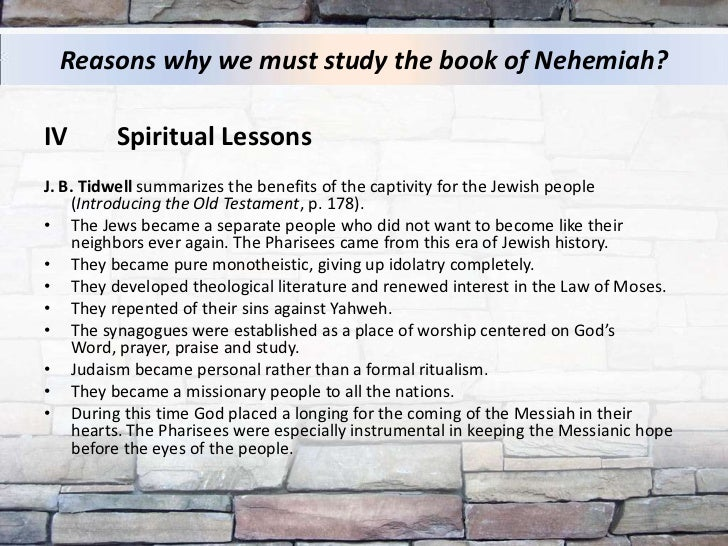 Study on book of nehemiah