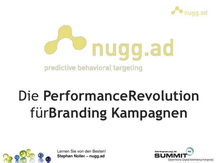 Die PerformanceRevolution fürBranding Kampagnen<br />