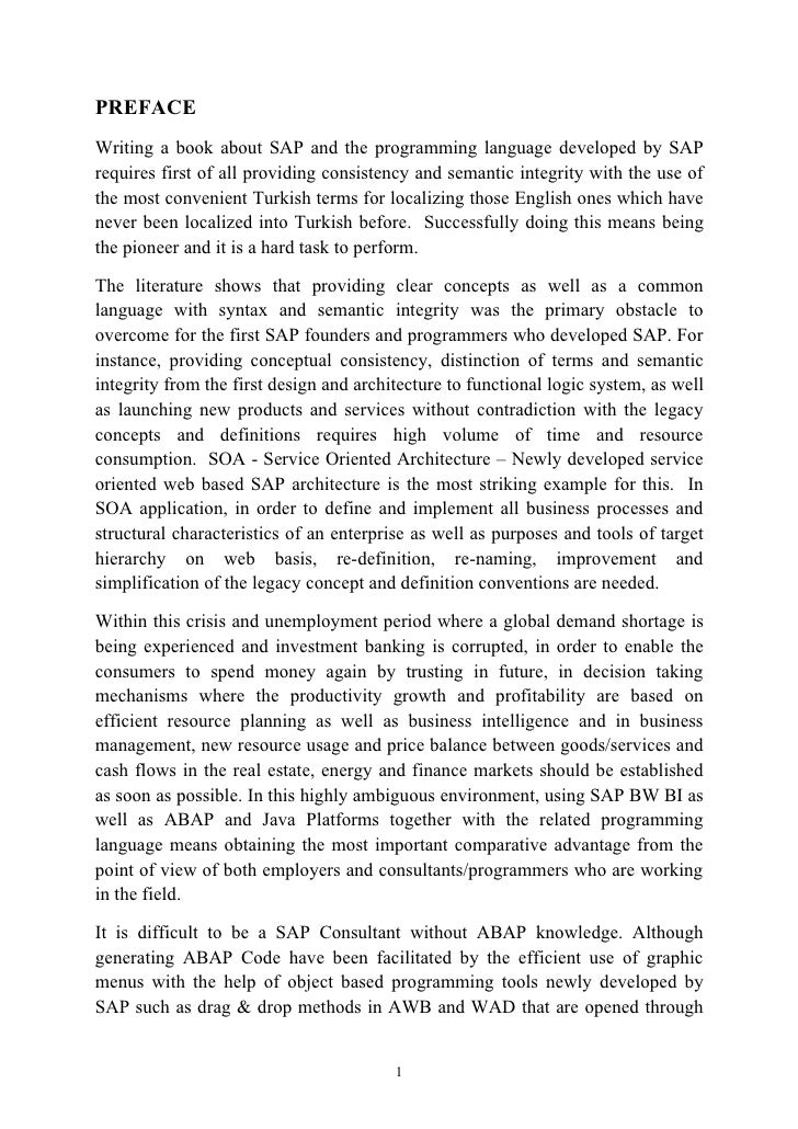 Personal Essay Thesis Statement Examples Preface Writing A Book About Sap And The Programming Language Developed By  Sap Requires First Of  English Essays Examples also Best English Essays  Onsoz Ingilizce Life After High School Essay