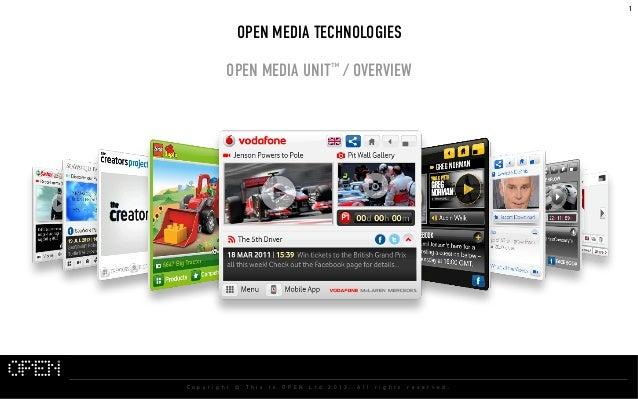 1                                           OPEN MEDIA TECHNOLOGIES                                       OPEN MEDIA UNIT™...